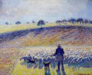 shepherd and sheep 1888
