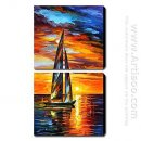 Hand Painted Oil Painting Landscape - Set of 2 1211-LS0073