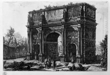View Of The Arch Of Constantine
