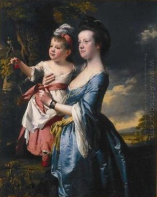 Portrait Of Sarah Carver And Her Daughter Sarah