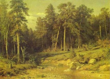 Pine Forest In Viatka Province 1872
