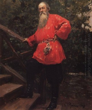 Portrait Of The Art Critic Vladimir Stasov 1889