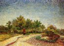 Lane In Voyer D Argenson Park At Asnieres 1887