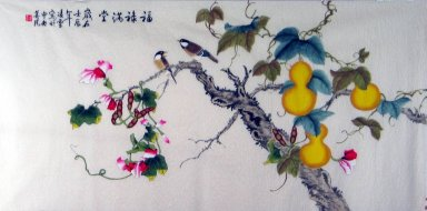 Gourd&Birds - Chinese Painting