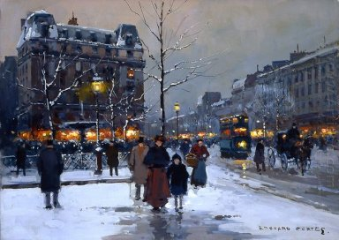 Place Pigalle Winter Evening