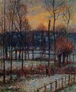 the effect of snow sunset eragny 1895