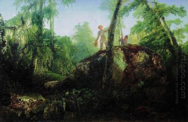 stone in the forest near the spill 1850