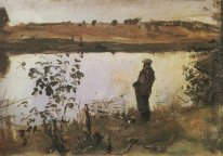 Artist K Korovin On The River Bank 1905
