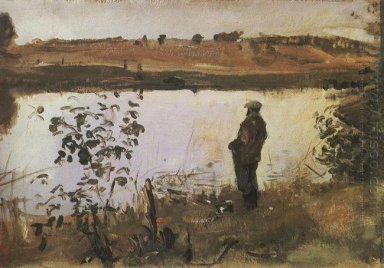 Artista K Korovin On The River Bank 1905