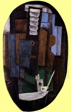 Still Life With A Guitar On A Table 1918