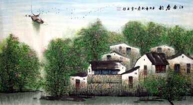 Tree and Bridge - Chinese Painting