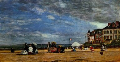 The Beach At Trouville 1864 1