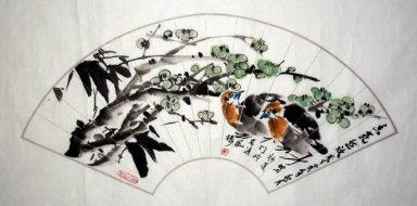 Birds-Fan-CNAG232573 - Chinese Painting