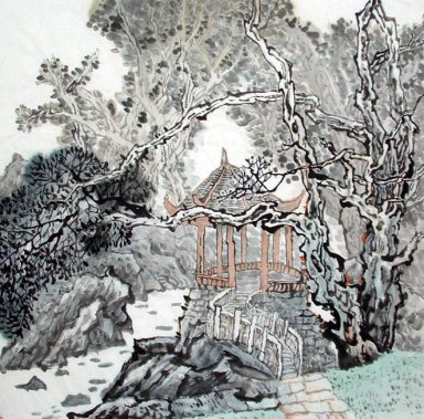 A Pavilion - Chinese Painting