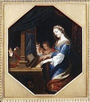 SAINTE CECILE PLAYING THE ORGAN