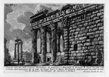 The Roman Antiquities T 1 Plate Xxxi Temple Of Antonius And Faus