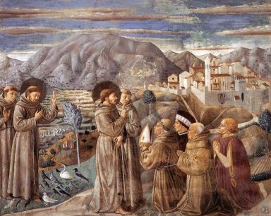 Preaching To The Birds And Blessing Montefalco 1452