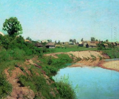 Village At The Riverbank 1883