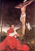Albert Cardinal Elector Of Mainz At The Foot Of The Cross 1520
