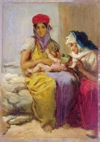 Young Moorish Woman Nursing Her Child