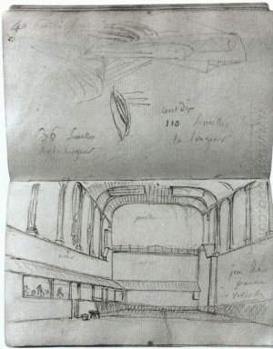 View Of The Interior Of The Tennis Court 1791