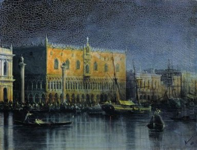 Palace Rains In Venice By Moonlight 1878