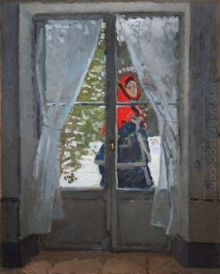 The Red Cape Madame Monet