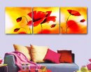 Hand-painted Abstract Oil Painting with Stretched Frame-Set of 3