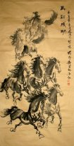 Cavalo-Antique Paper - Pintura Chinesa