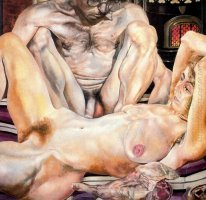 Double Nude Portrait: The Artist and his Second Wife (The leg of