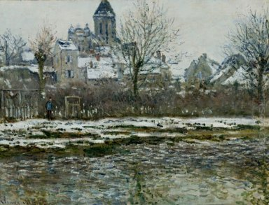 The Church At Vetheuil Under Snow 1879