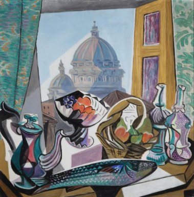 Still Life With The Dome Of St Peter S 1943