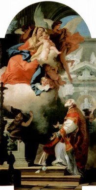 The Virgin Appearing To St Philip Neri 1740