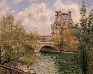 the pavillion de flore and the pont royal 1902