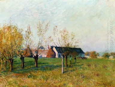 the farm at trou d enfer autumn morning 1874