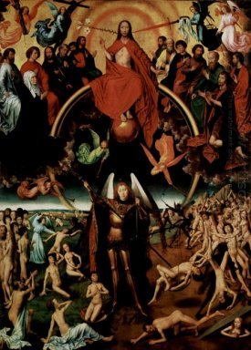The Last Judgment Triptych Central Panel Maiestas Domini With Ar