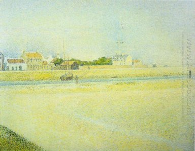 The Channel At Gravelines Grand Fort Philippe 1888
