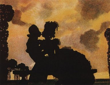 The Kiss Silhouette