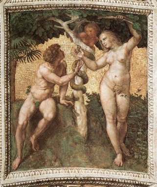 Adam And Eve From The Stanza Della Segnatura 1511