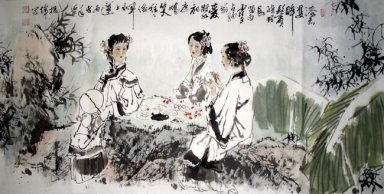 Three girls - Chinese Painting