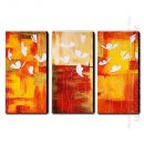 Hand Painted Oil Painting Abstrak - Set 3
