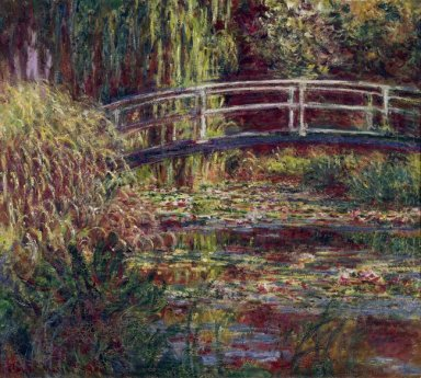 The Japanese Bridge The Water Lily Pond Symphony In Rose