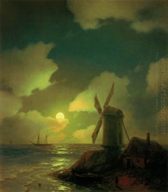 Windmill On The Sea Coast 1851
