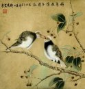 Birds on the branches are friends - Chinese Painting