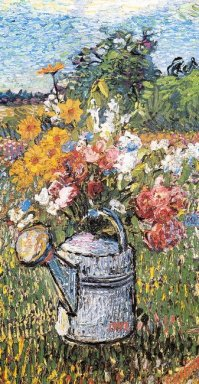 Still Life With Flowers And Watering Can