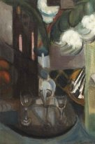 A still life with a carafe and glasses