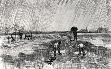 Churchyard In The Rain 1883 1