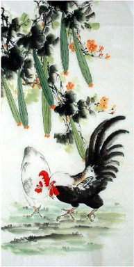 Loofah-Hen - Chinese Painting