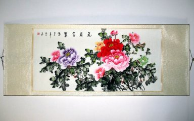 Peony - Mounted - Chinese Painting