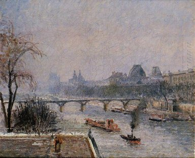 the louvre morning snow effect 1903